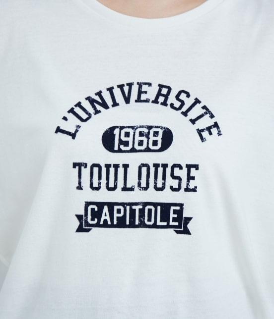 ロペピクニック | フロッキープリントルーズTシャツ - 5