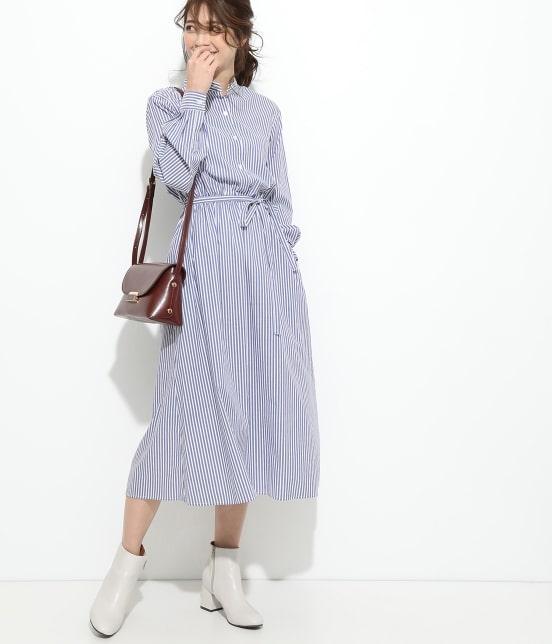 ビス | 【予約】【鎌倉シャツ×ViS】スタンドカラーワンピース - 11