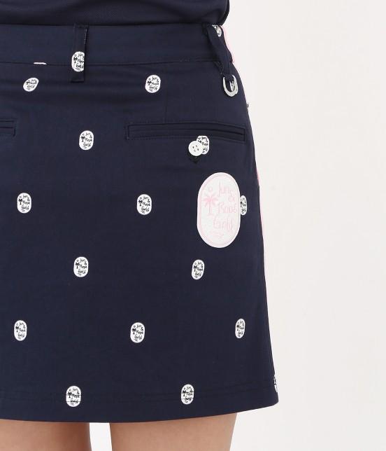 ジュン アンド ロペ | 【TIME SALE】ワッペン柄プリントカラーブロックスカート - 4