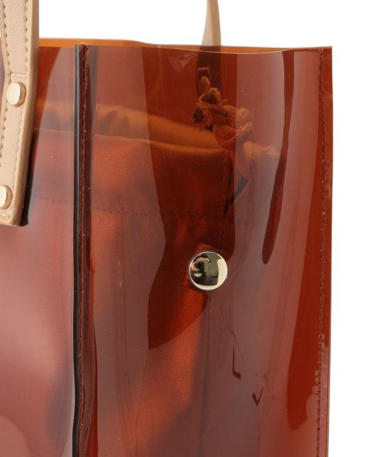 ロペピクニックパサージュ   メタリック巾着付ビニールトートバッグ - 4