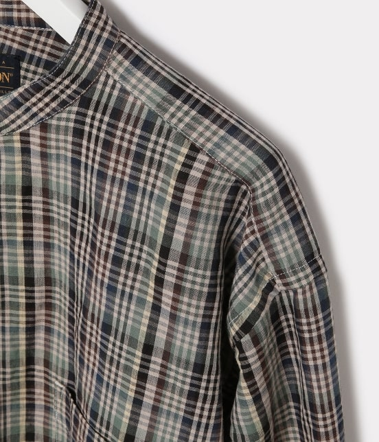 アダム エ ロペ ワイルド ライフ テーラー | 【予約】【PENDLETON】別注バンドカラーシャツ - 3