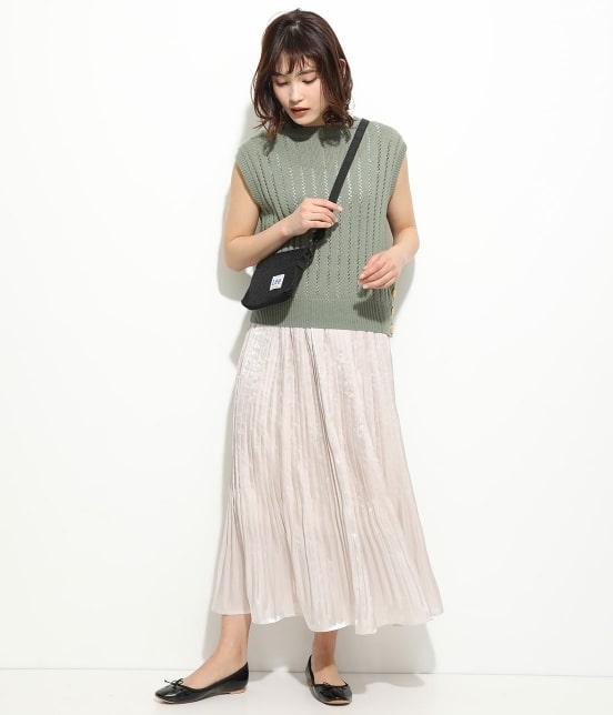 ビス | 【早割】【新色追加】シャイニーサテンフェードアウトプリーツスカート - 10