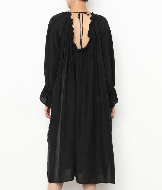 アダム エ ロペ ファム | 【ロペシスターズコレクション 辻直子監修】【ne Quittez pas】 SILK BLACK DRESS - 3