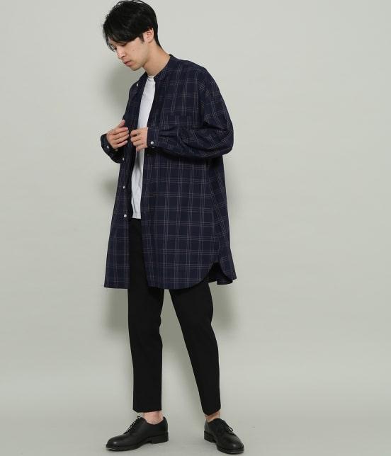 ジュンレッド | 【smart 10月号掲載商品】チェックバンドカラーマキシシャツ - 13